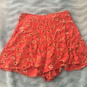 urban outfitters flowy high waisted shorts